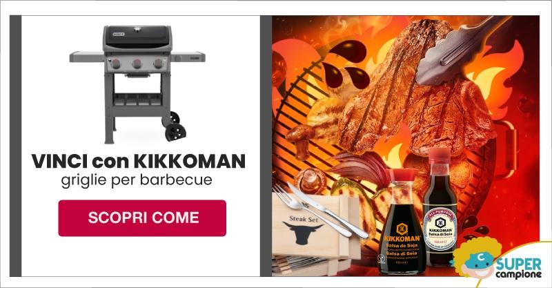 Vinci griglie barbecue e campioni Kikkoman