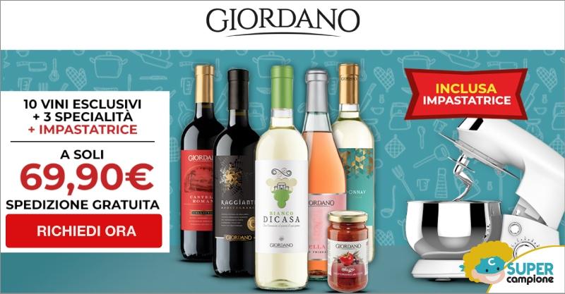Giordano Vini: 10 vini, 3 specialità + inclusa impastatrice planetaria
