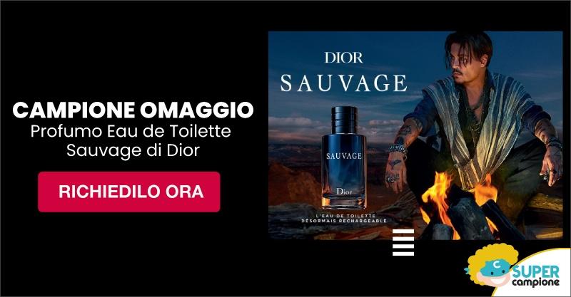 Campione omaggio profumo Eau de Toilette Sauvage di Dior