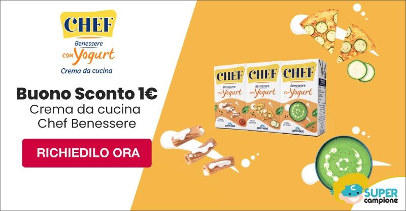 Buono sconto 1€ crema da cucina Chef Benessere