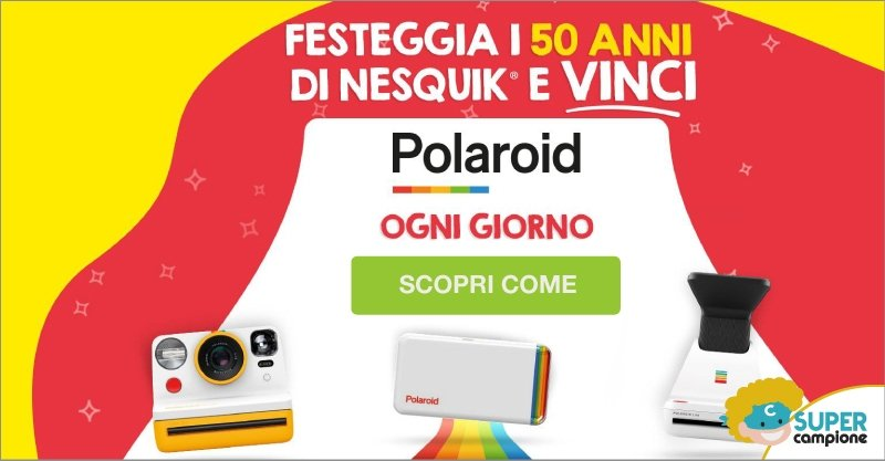 Vinci ogni giorno Polaroid con Nesquik