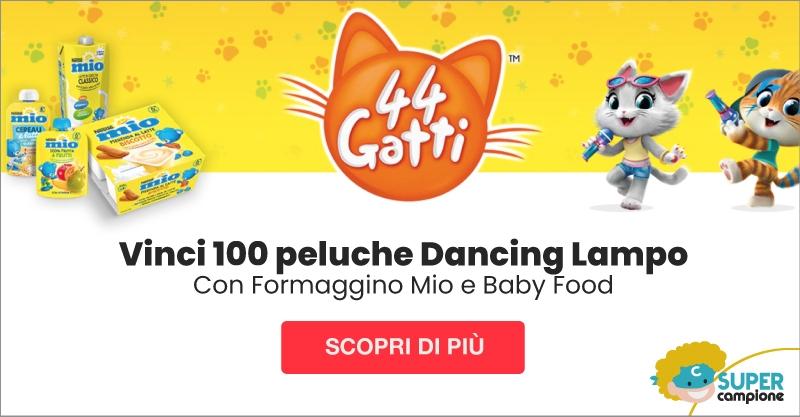 Vinci 100 peluche Dancing Lampo con Formaggino Mio