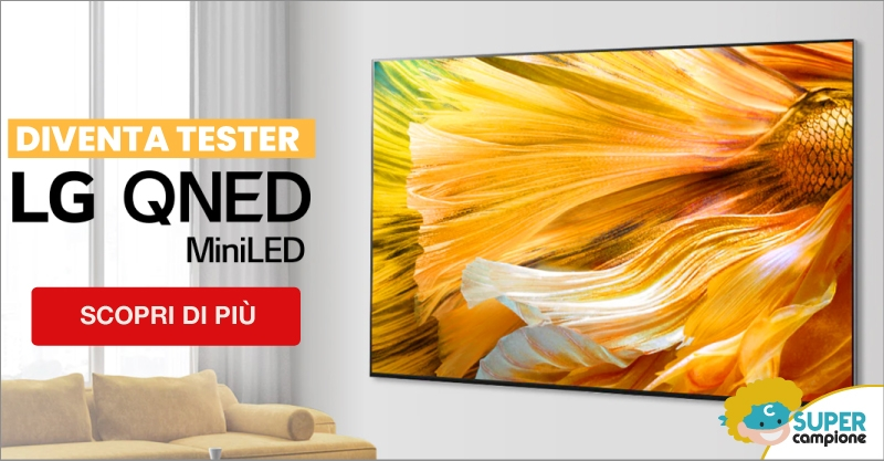 Diventa tester LG QNED TV MiniLED