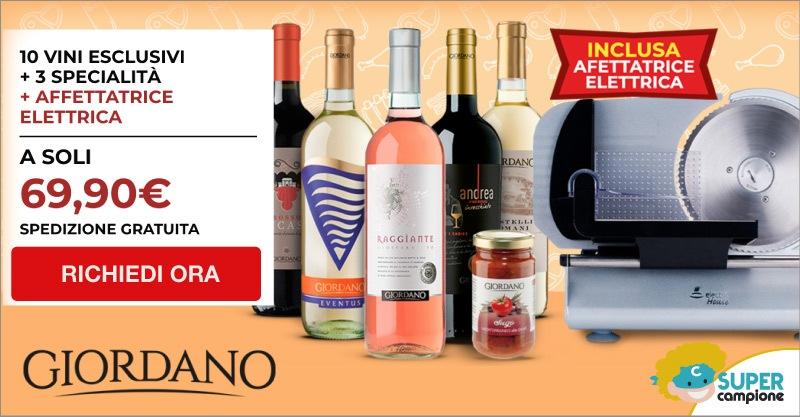 Giordano Vini: 10 vini, 3 specialità + inclusa un'affettatrice elettrica
