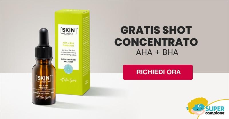 SkinLabo: omaggio shot concentrato viso Aha + Bha