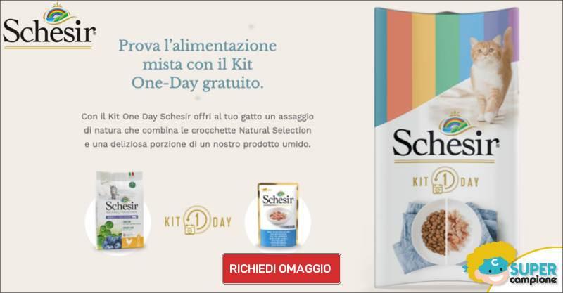 Campioni omaggio kit Schesir One-Day gatto