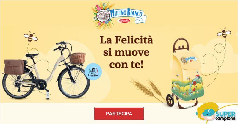 Mulino Bianco: vinci bicicletta e carrellini portaspesa