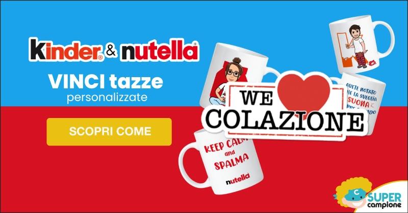 Vinci tazze personalizzate Kinder & Nutella