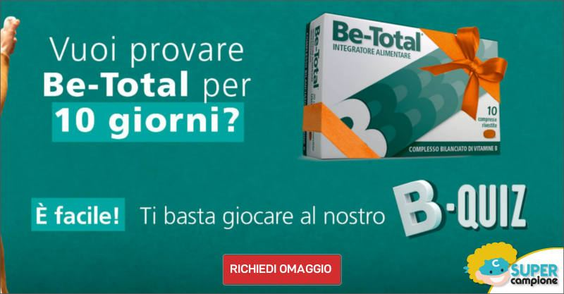 Campioni omaggio Be-Total integratore vitamine